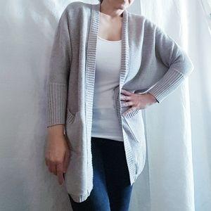 American Eagle Gray Knit Cardigan